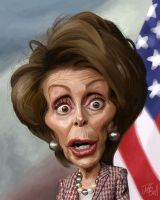 Image result for nancy pelosi caricature