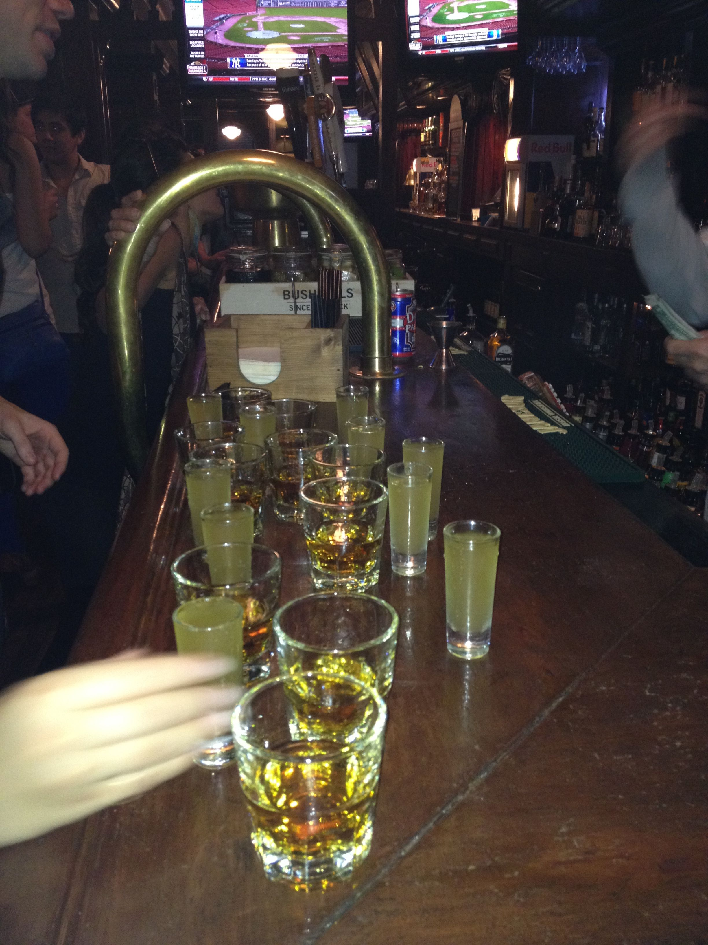 Jameson shot with a homemade pickle juice back so good