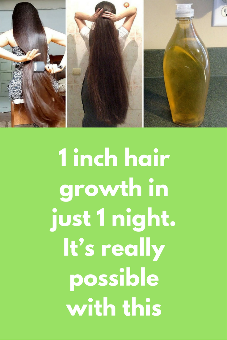 1 inch hair growth in just 1 night. it's really possible with this