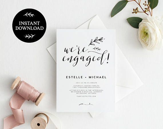 Engagement Invitation Template - Invitation Template