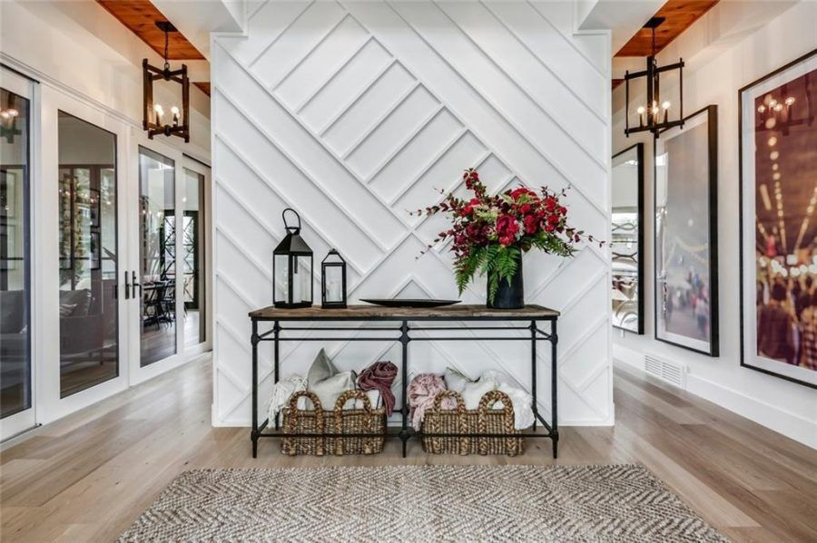 The Maxwell Trickle Creek S Newest Modern Farmhouse Home Styled To Sparkle Home Decor Home Hallway Designs