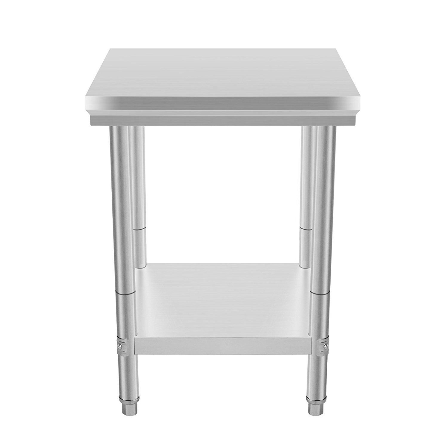 Popsport Stainless Steel Work Table 24x24 Inch Kitchen Work Prep ...