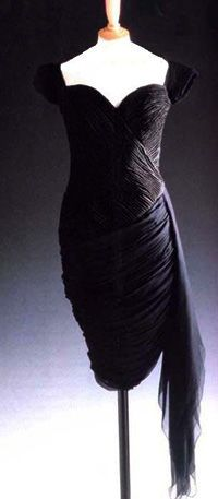 Diana S Famous Little Black Dress That Got The World Talking Silk Crepe By Christina Stambolian