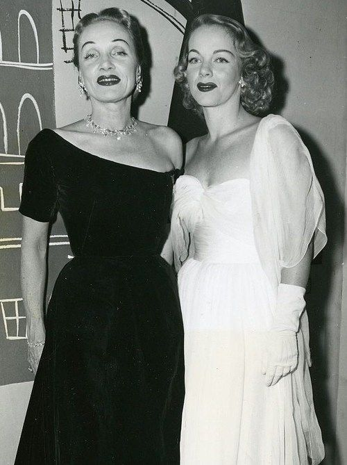 Marlene Dietrich And Her Daughter Maria Riva Attend The