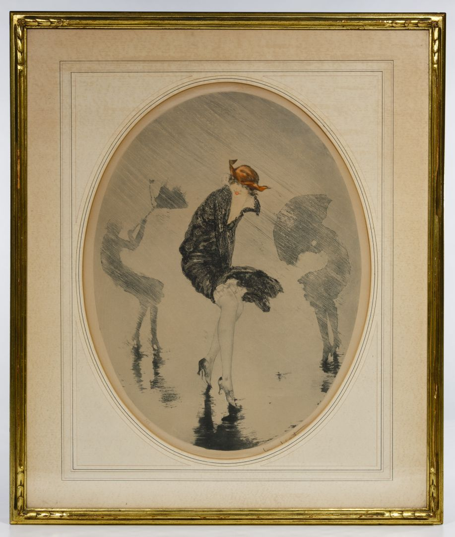 Lot 83 Louis Icart French 1888 1950 L Averse Lithograph Undated Signed Lower Edge 228 Lower Left Image Of Thre With Images Lithograph Vintage World Maps Auction