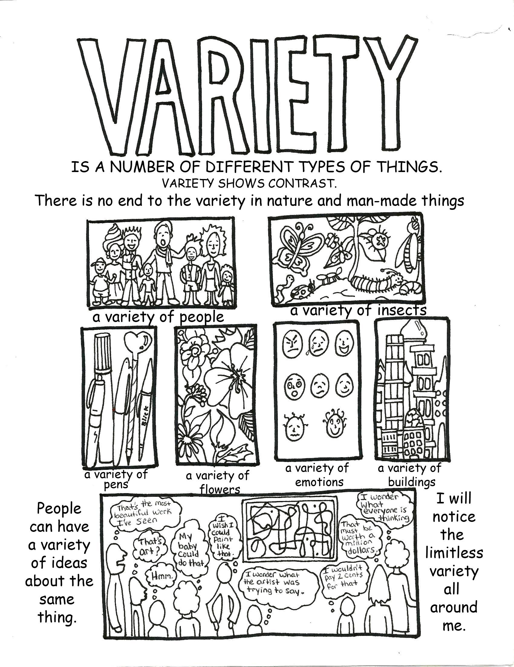 Variety Handout Poster With Images