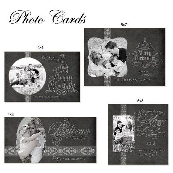 Christmas Card Design Chalkboard 5x7 5x5 4x8 By Ashedesign 14 99 Christmas Card Set Christmas Scrapbook Christmas Card Design