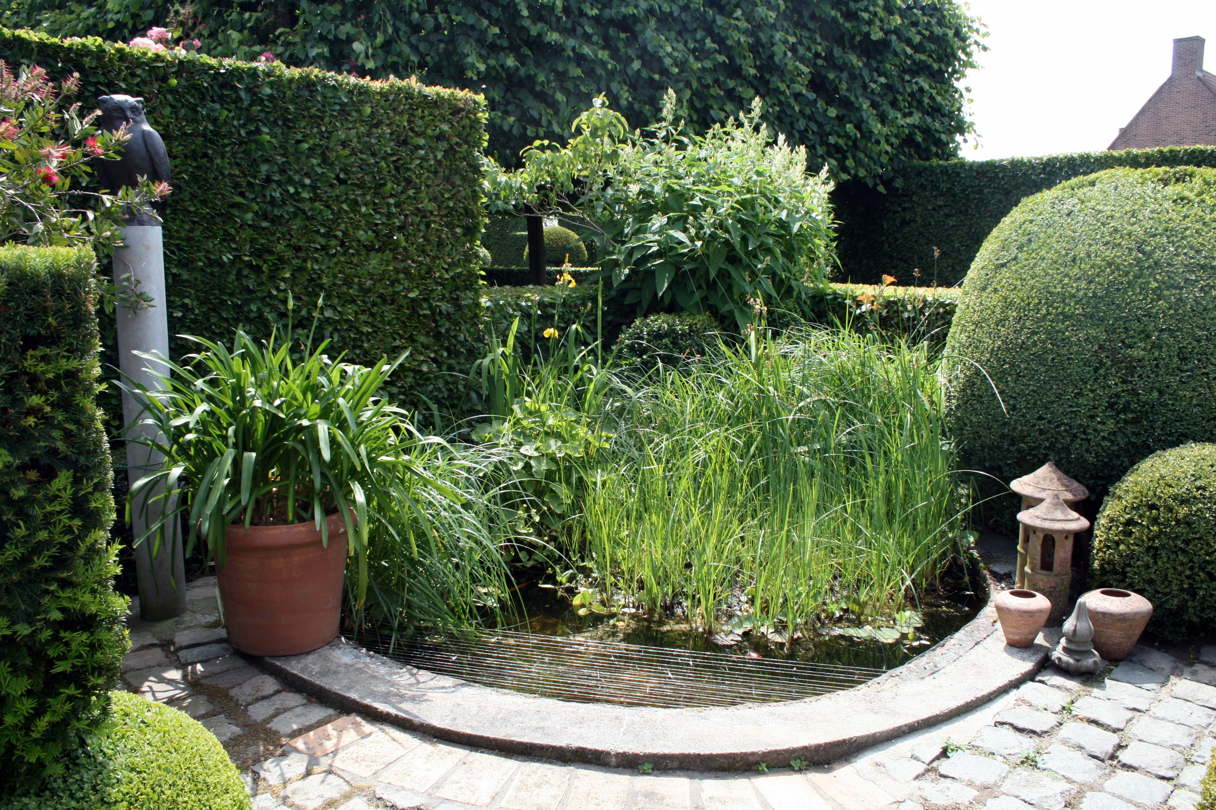 Formschnitt Topfgarten Wasser Im Garten Gartenreise Belgien Holland Tr