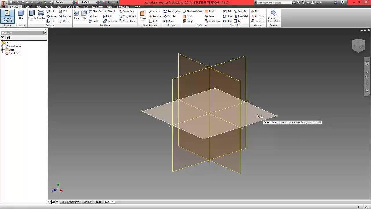 Pleasant Autodesk Inventor Beginner Tutorial Part 1 Modeling Tire Download Free Architecture Designs Lukepmadebymaigaardcom