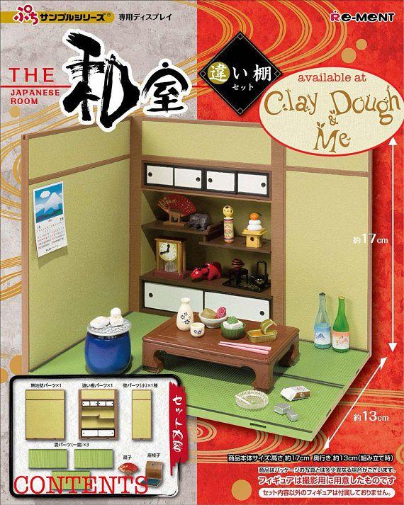Re-Ment Dollhouse Miniature The Japanese Life Room Shelf Cabinet furniture set