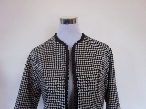 VINTAGE authentic rare 50s retro rockabilly houndstooth jacket by shopblackheart