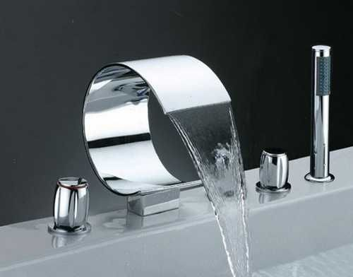 Look At How Amazing This Faucet Looks Is A Silver Nickel That Circular Would Be Great With Modern Style Bathroom