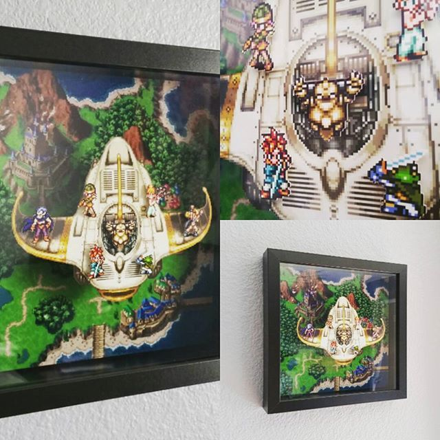 Chrono Trigger Epoch Flight Shadowbox Chrono Trigger The Game