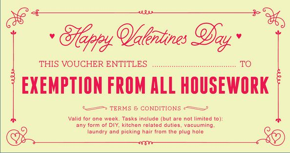 Free Printable Valentines Day Vouchers Coupons