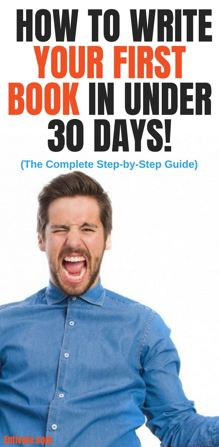how to write your first book in 30 days even if you feel