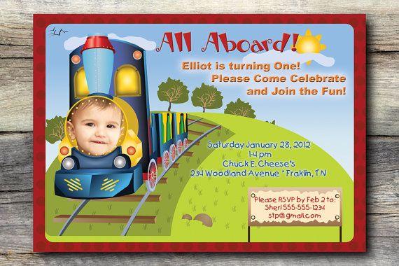 birthday boy photo optional invitation choo by studiogstationery
