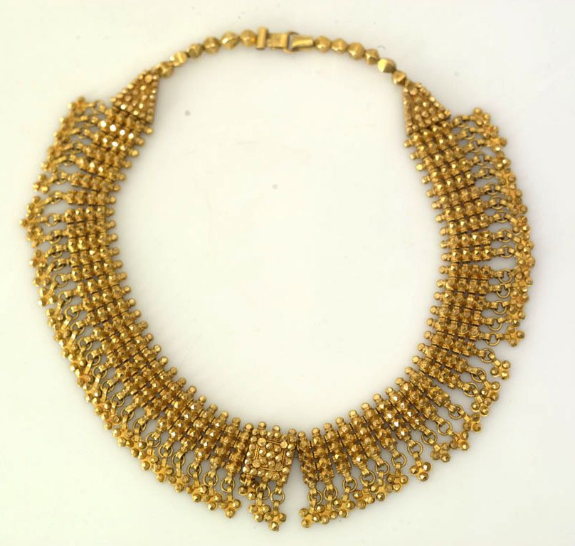 Yemen | 24k gold necklace. Made in 1945 | Locale; Aden, Crater ...