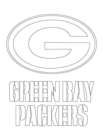 Green Bay Packers Logo Coloring page | Stuff I want to make | Pinterest