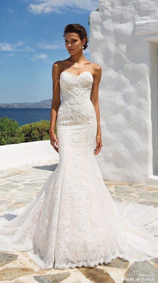 Justin alexander spring wedding dresses chantilly lace gowns