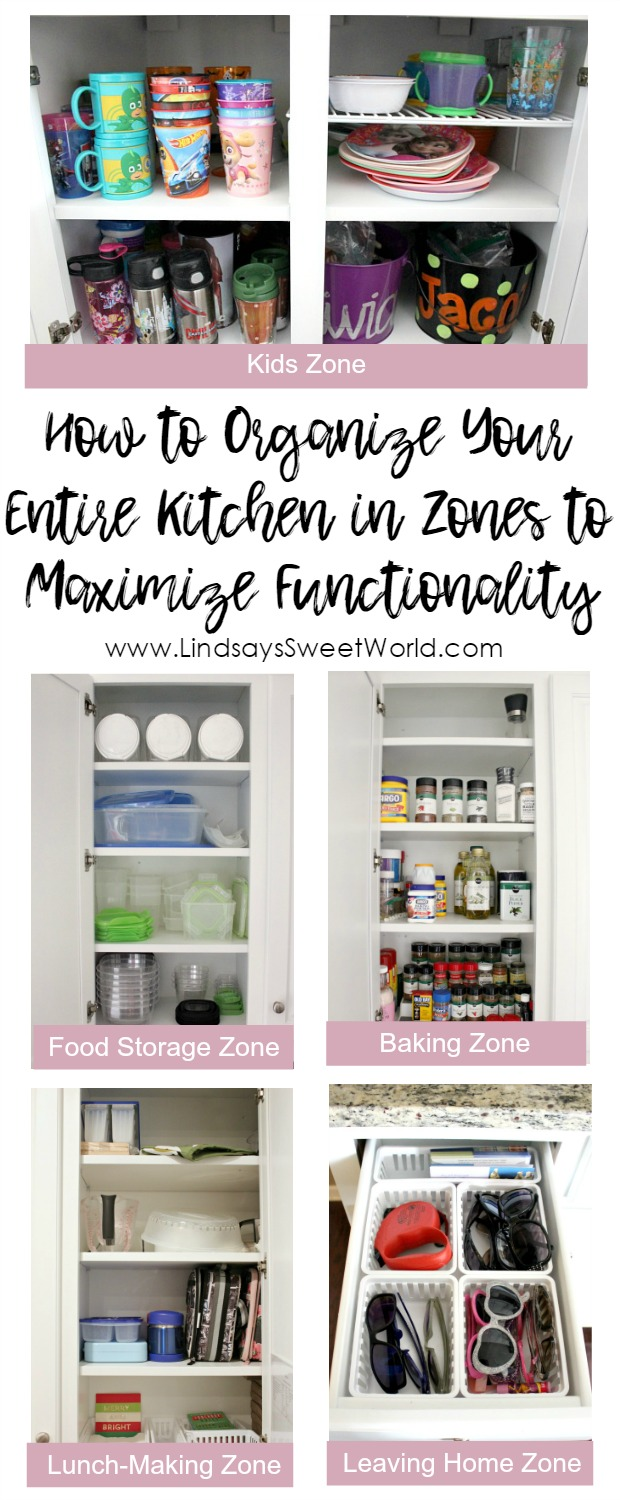 how to organize your kitchen cabinets into zones to maximize functionality in 2020 kitchen on organizing kitchen cabinets zones id=66769