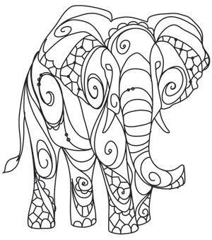 Gabii coloring pages ~ The Delicate Ones - Elephant: | DIY & Crafts | Вышивка на ...