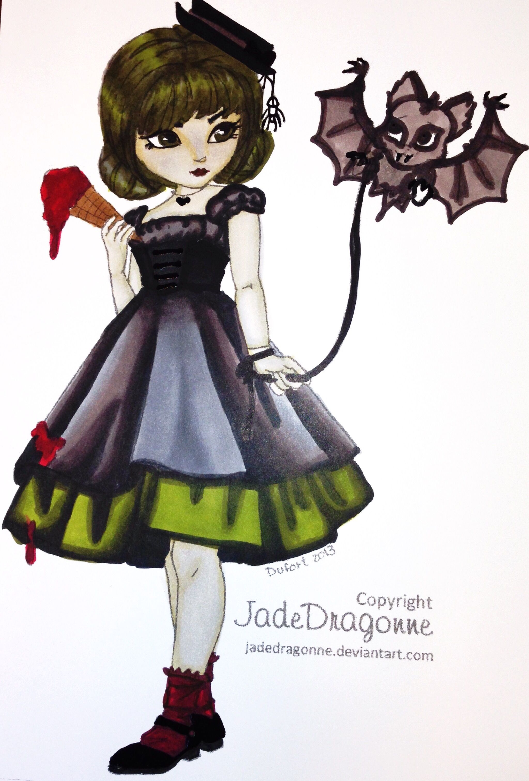 Little Pet Bat By Jade Dragonne Colored Cristina B