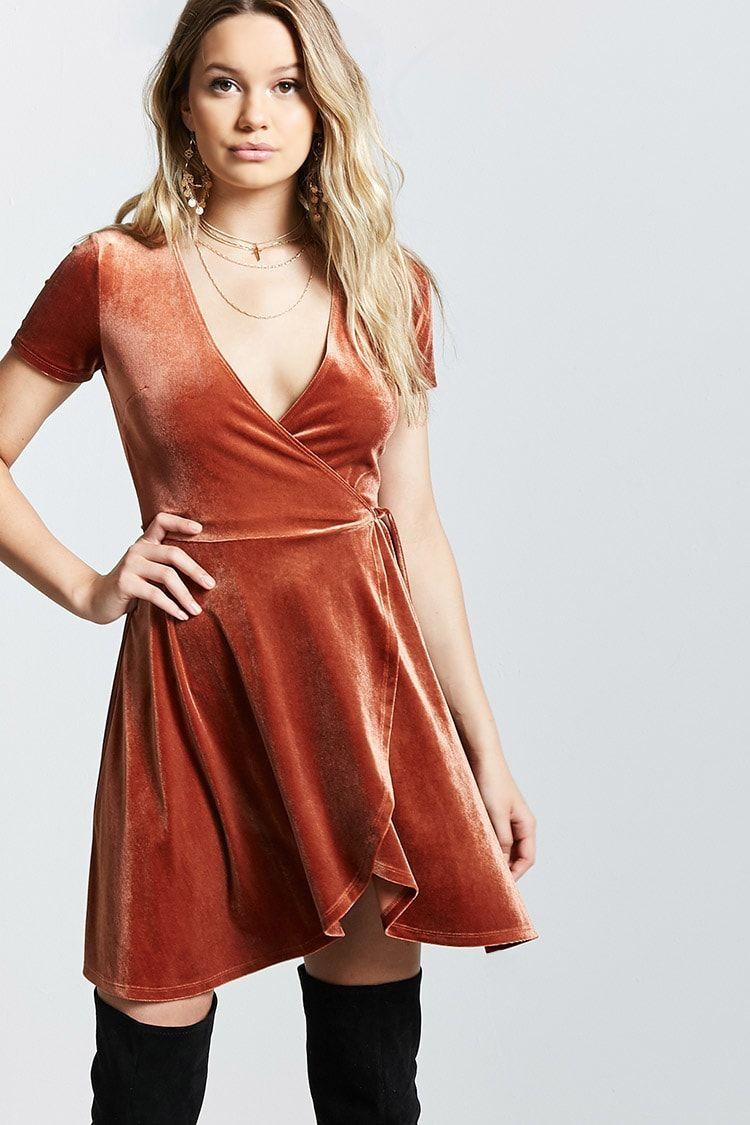 Velvet Surplice Wrap Dress Long Sleeve Velvet Dress Tulip Wrap Dress Wrap Dress [ 1125 x 750 Pixel ]