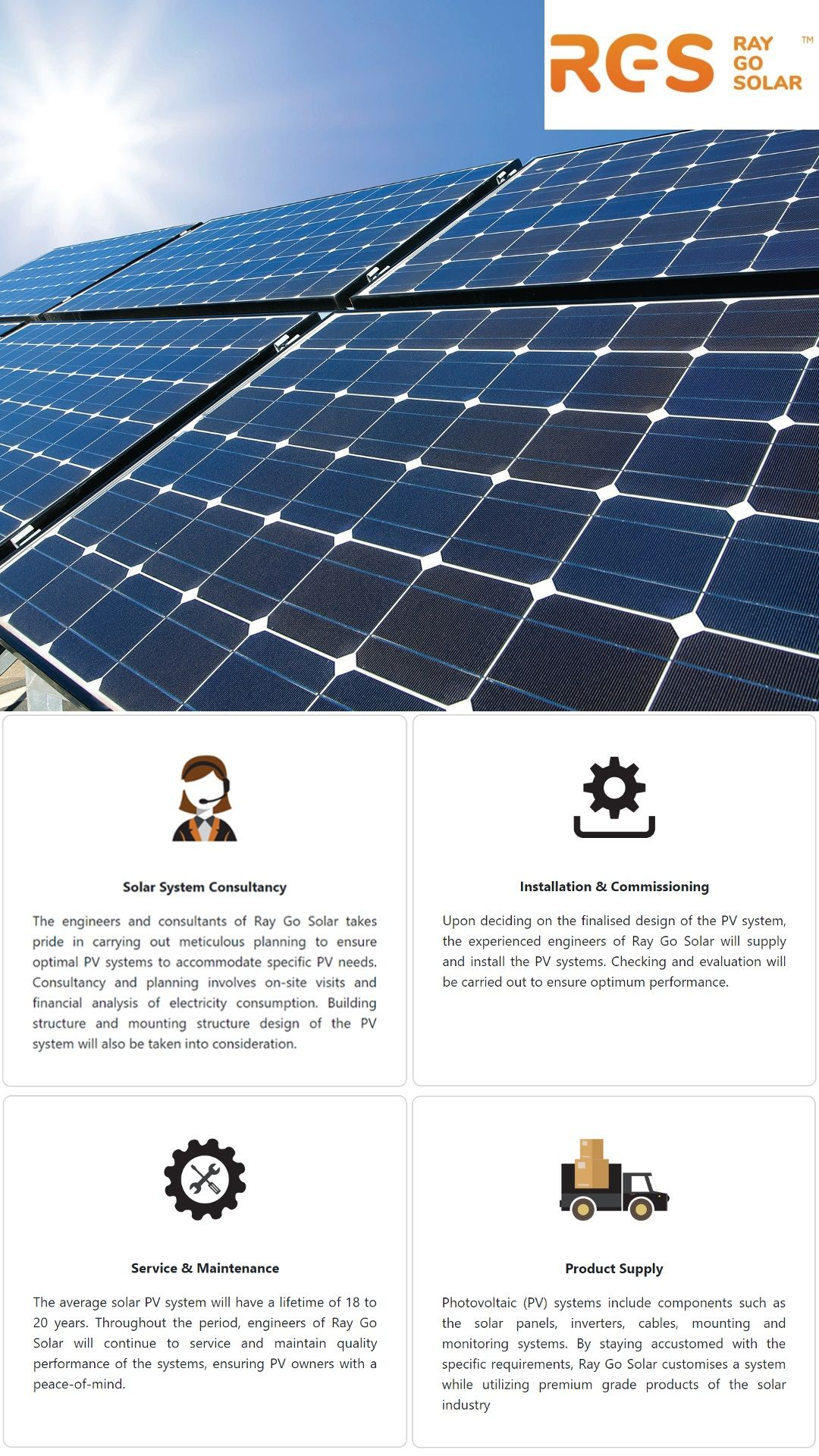 Ray Go Solar Services Solar Pv System Roof Solar Panel
