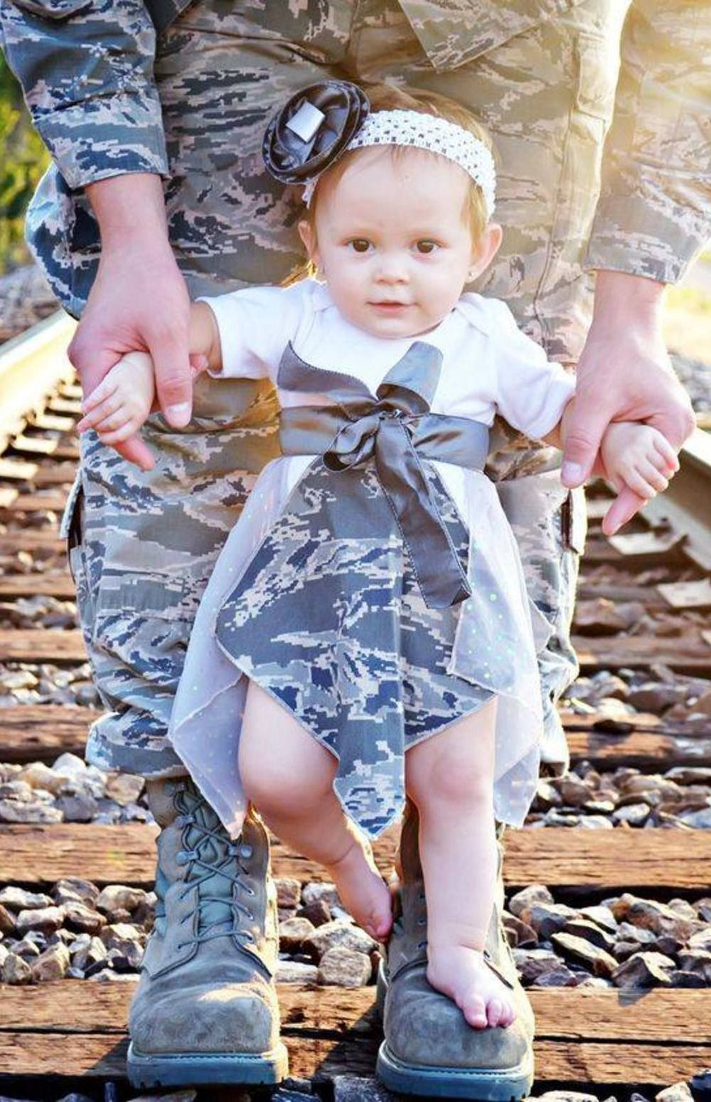 quality design c72e5 1c652 Baby girl military camo dress - just precious. LOVE this picture!!