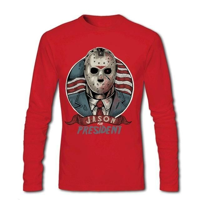 Jason For President print Usual Suspects Halloween T Shirt Top