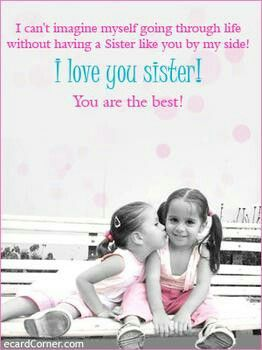 Grosse Schwester | lola | Love your sister, I love you