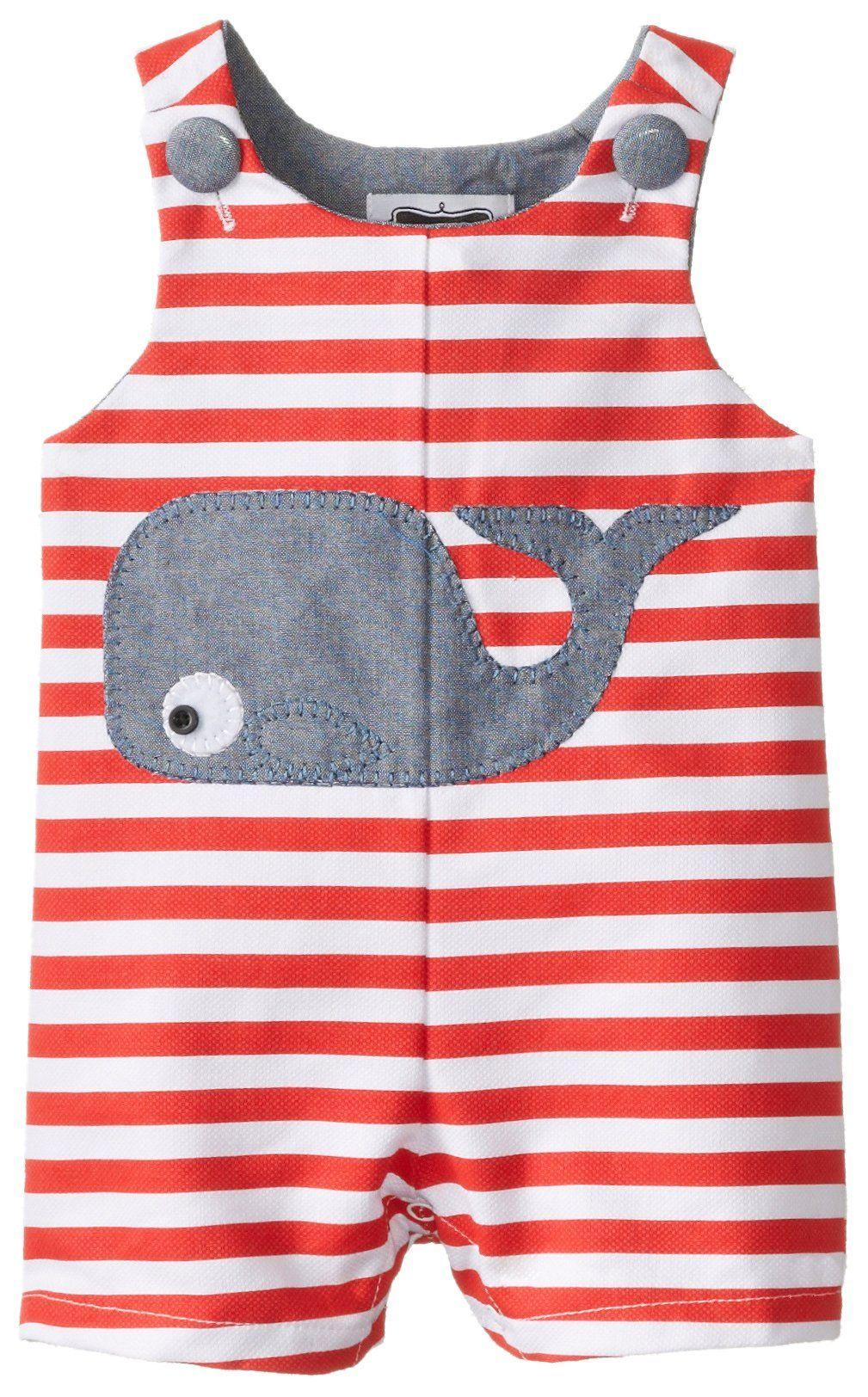Amazon.com: Mud Pie Baby-Boys Newborn Whale Shortall: Clothing ...