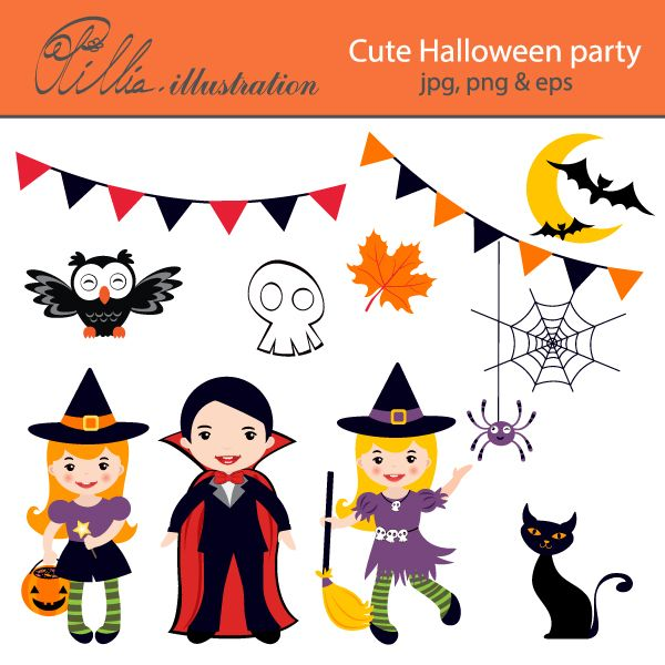 19++ Halloween party images clipart ideas