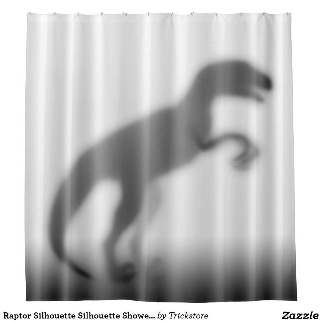 Raptor Silhouette Silhouette Shower Curtain Zazzle Com