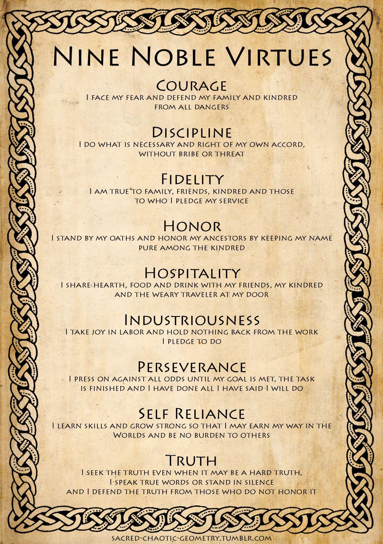 The Nine Noble Virtues