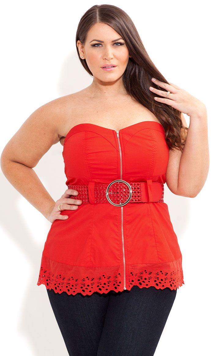 314d1bacbc48f City Chic - BRODERIE TRIM CORSET - Women s plus size fashion   HGNJShoppingMall.com    fashion