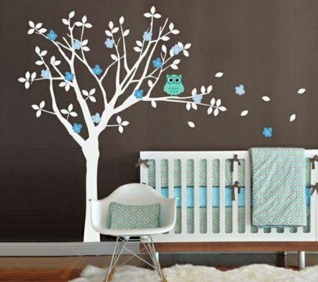 16 stickers muraux pour bien d corer la chambre de b b plus d 39 id es stickers muraux stickers. Black Bedroom Furniture Sets. Home Design Ideas