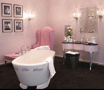 D co salle de bain boudoir romantique lingerie de luxe et luxe - Deco salle de bain romantique ...