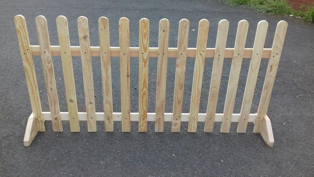 Bare Wood Finish Ebay Pet Fence Ideas Picket Fence Dog Fence