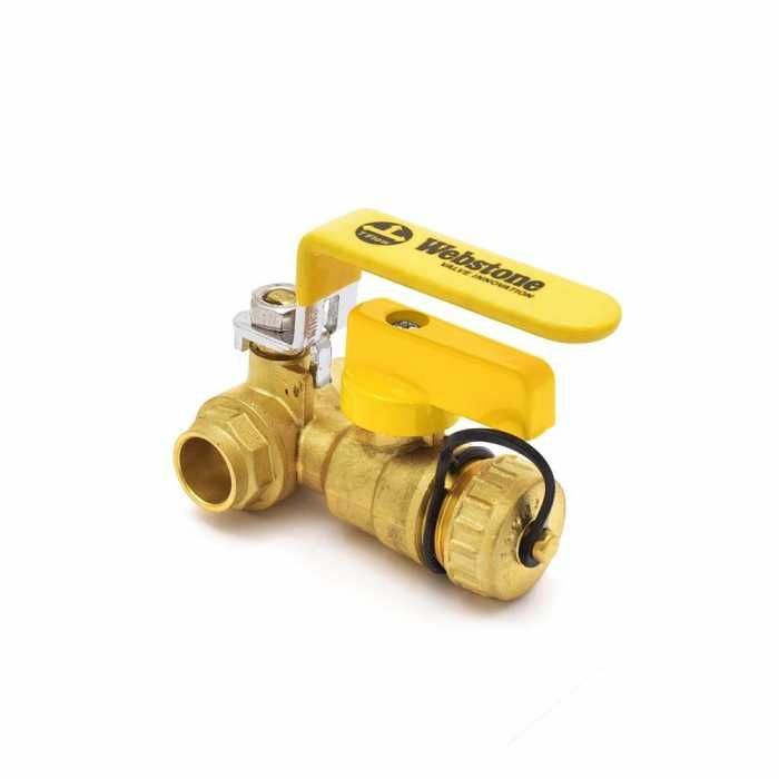 1 2 Inch Brass Ball Valve W Hose Drain Sweat Solder Full Port Lead Free Valve Hose Drain