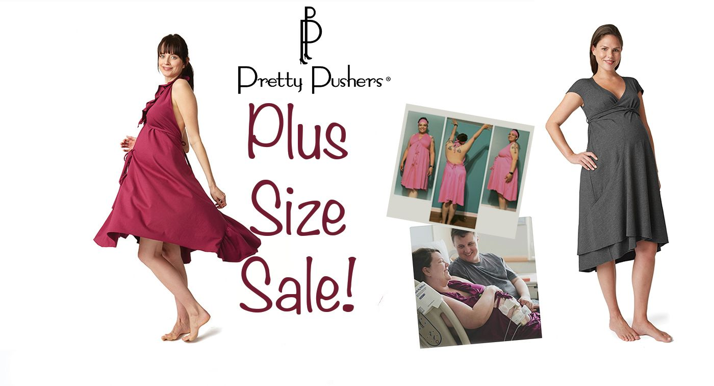 Original Labor & Delivery Gowns - Black / Plus Size (18-26 pre ...