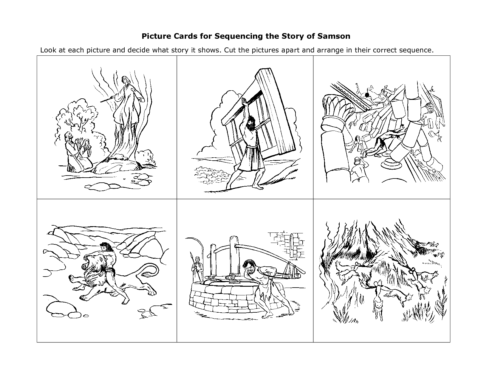 Story Sequencing Cards For Kindergarten Esl