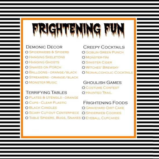 This Halloween party checklist has everything you need for a - free party planner template