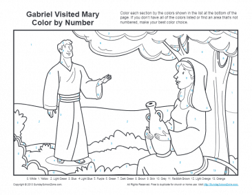 Bible Coloring Pages For Kids Angel Gabriel And Mary Bible Coloring Pages Bible Coloring Coloring Pages