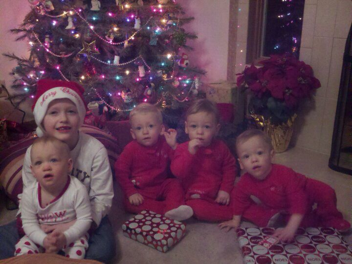 Christmas at nana and papa's- quads
