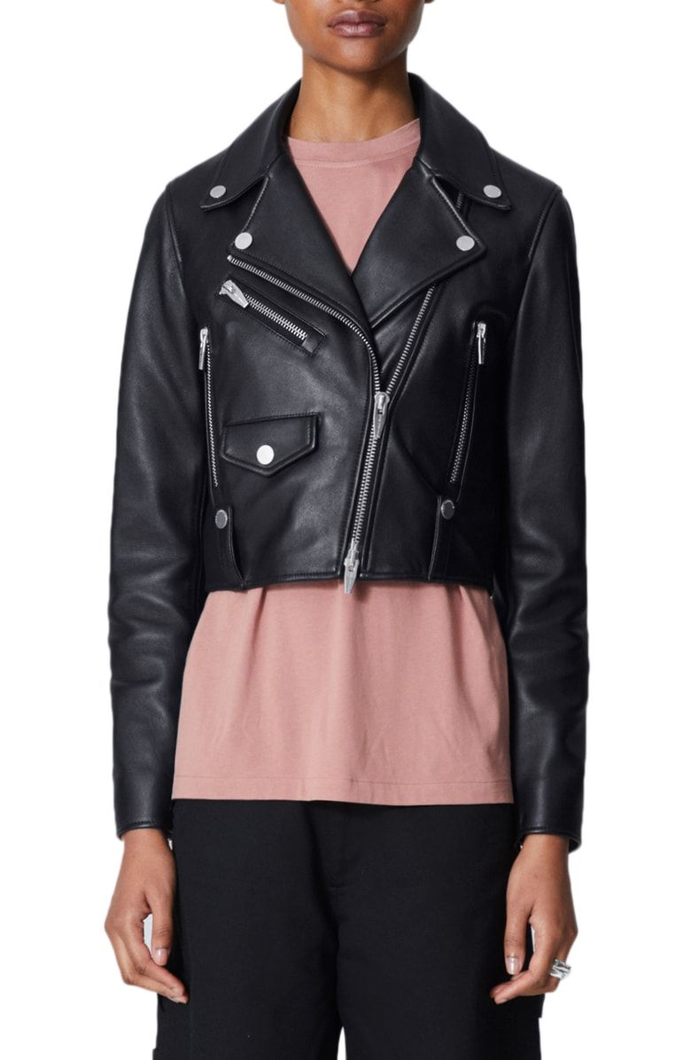 The Arrivals Clo Mini Leather Jacket Nordstrom Leather Jacket Latest Clothing Trends Jackets [ 1196 x 780 Pixel ]
