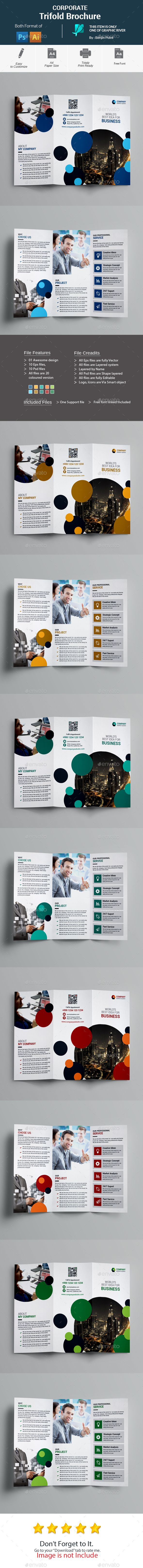 Corporate Trifold Brochure Template PSD, Vector EPS, AI Illustrator ...