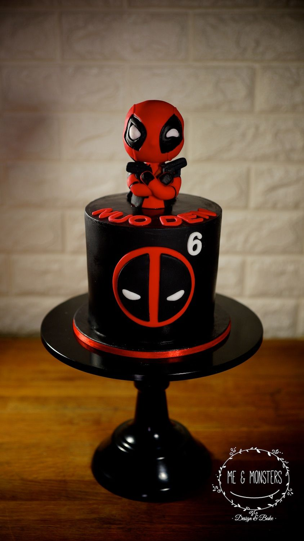 Deadpool Theme Cake Deadpool Cake Superhero Cake Fondant Cakes