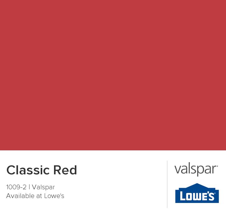 Valspar Paint Color Chip Clic Red