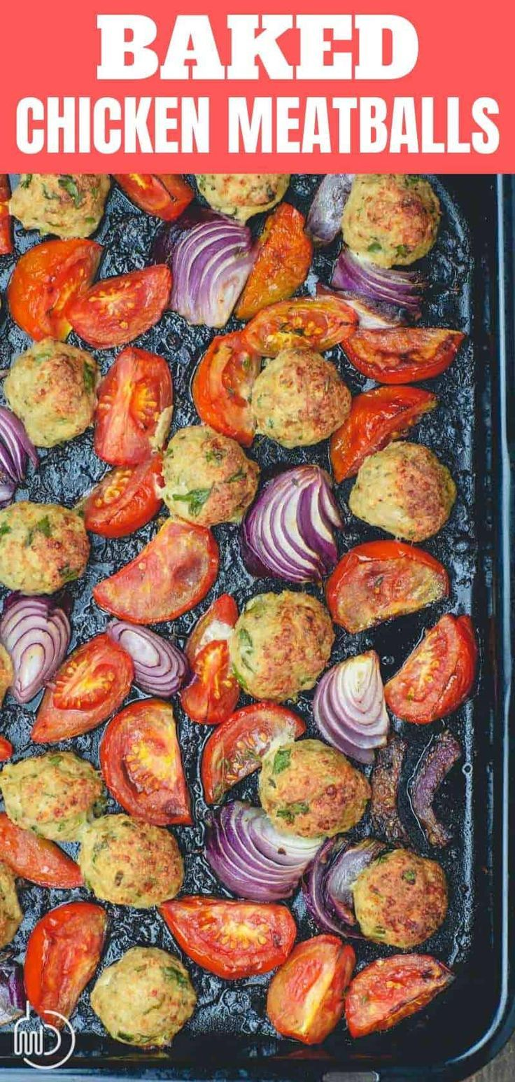 BEST Italian Baked Chicken Meatballs Hands-down the BEST Baked Chicken Meatballs!  Loads of Italian flavors from fresh herbs, spices & Parmesan. Grab cooking tips for the juiciest chicken meatball recipe. Plus lots of ideas for how to serve them for dinner!